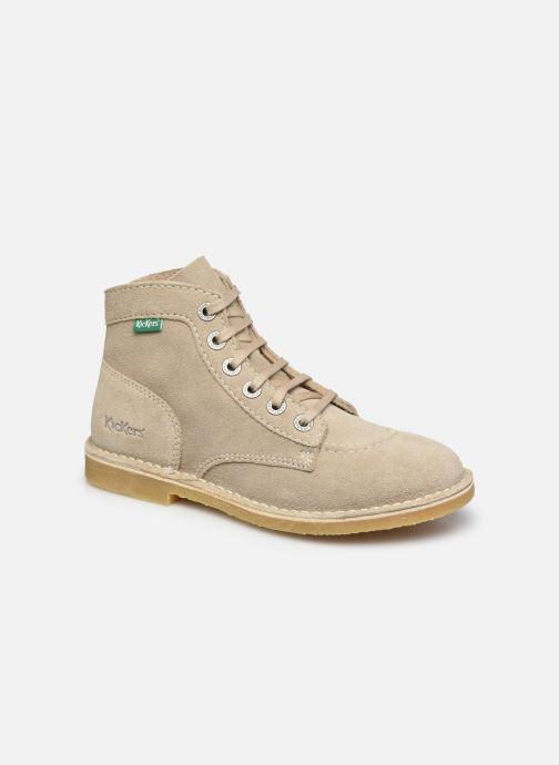 Bottines et boots Kickers Orilegend F Beige vue détail/paire