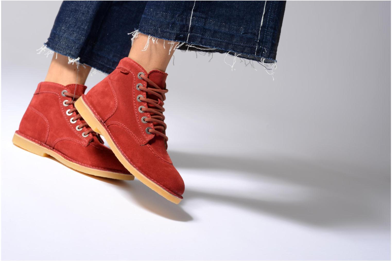Chaussures à lacets Kickers Orilegend F Beige vue bas / vue portée sac