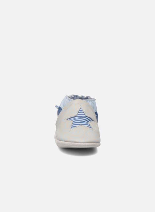 Chaussons Robeez Kindergarten Gris vue portées chaussures