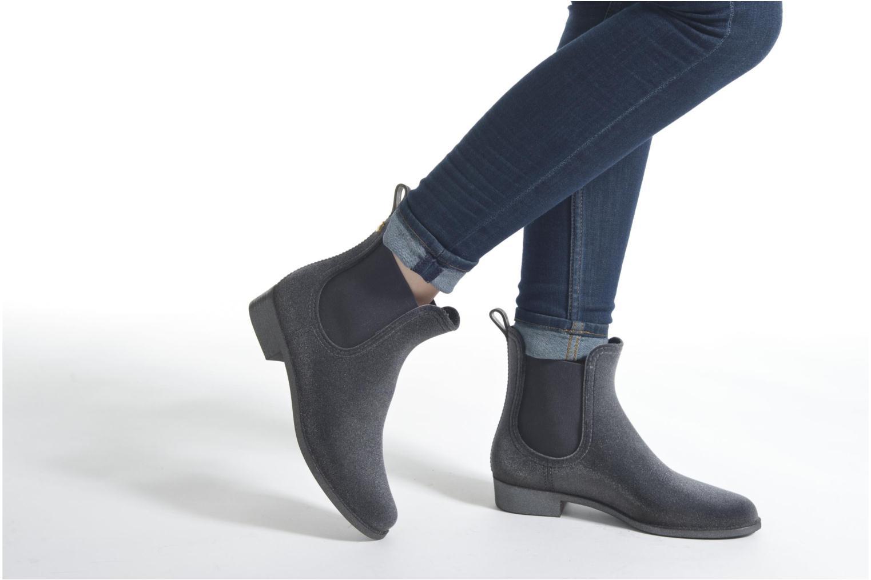 Bottines et boots Lemon Jelly Velvety Gris vue bas / vue portée sac