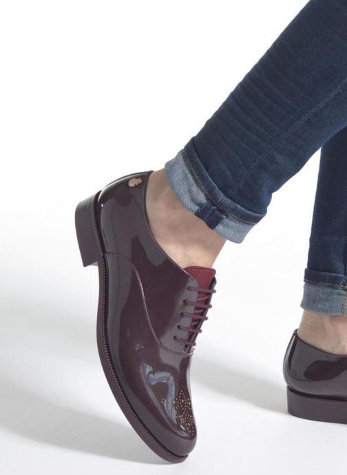 Chaussures à lacets Lemon Jelly Jeny Bordeaux vue bas / vue portée sac