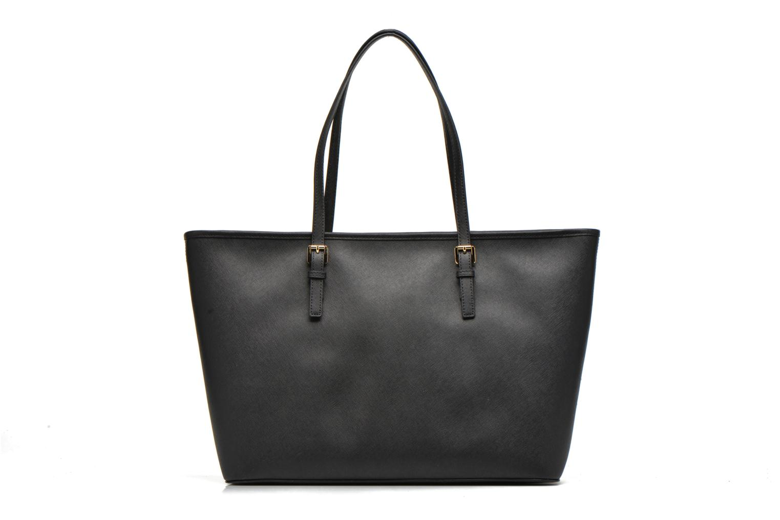 Bolsos de mano Michael Michael Kors JET SET Travel MD TZ Multifonction Tote Negro vista de frente