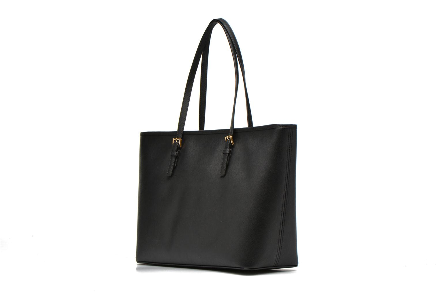 Bolsos de mano Michael Michael Kors JET SET Travel MD TZ Multifonction Tote Negro vista lateral derecha