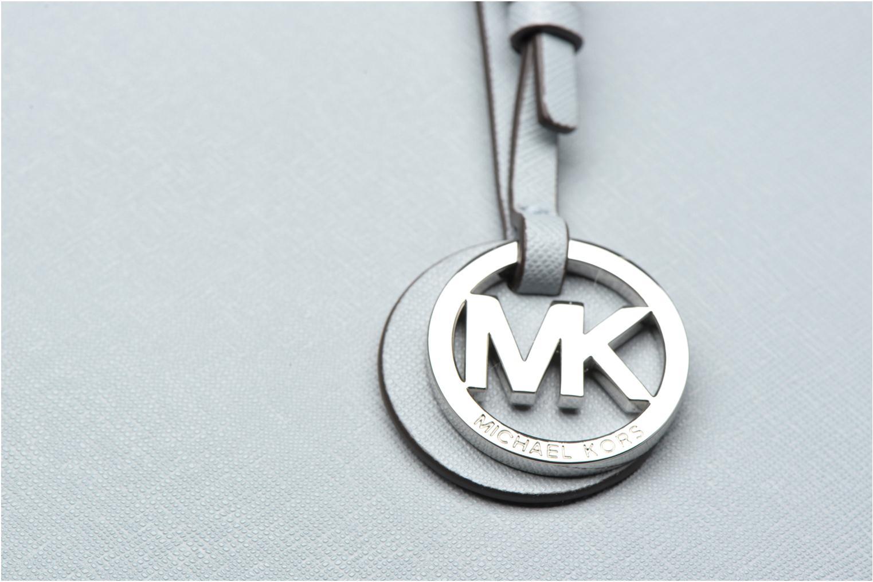 Bolsos de mano Michael Michael Kors JET SET Travel MD TZ Multifonction Tote Azul vista lateral izquierda