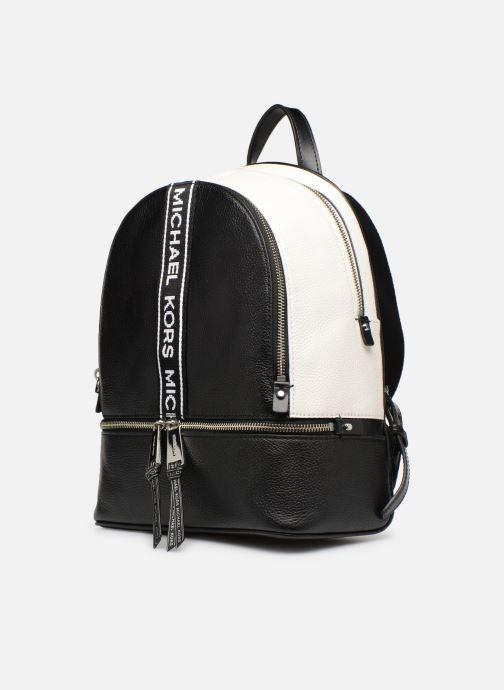 Sacs à dos Michael Michael Kors RHEA ZIP MD Backpack Noir vue portées chaussures