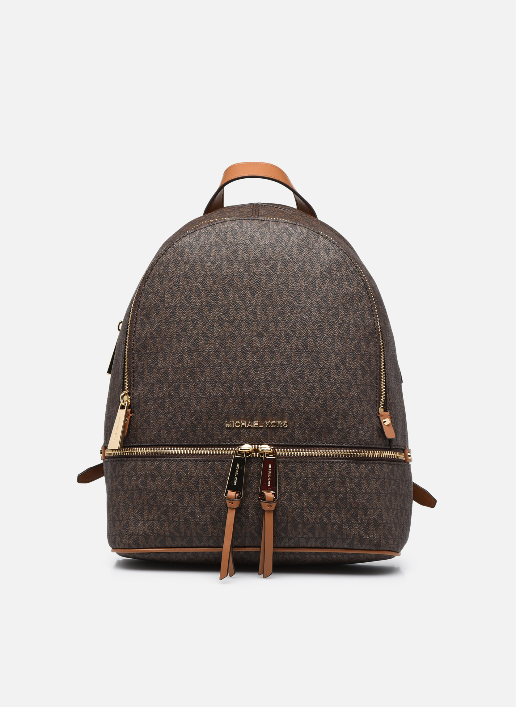 Sacs à dos Michael Michael Kors RHEA ZIP MD Backpack Marron vue détail/paire