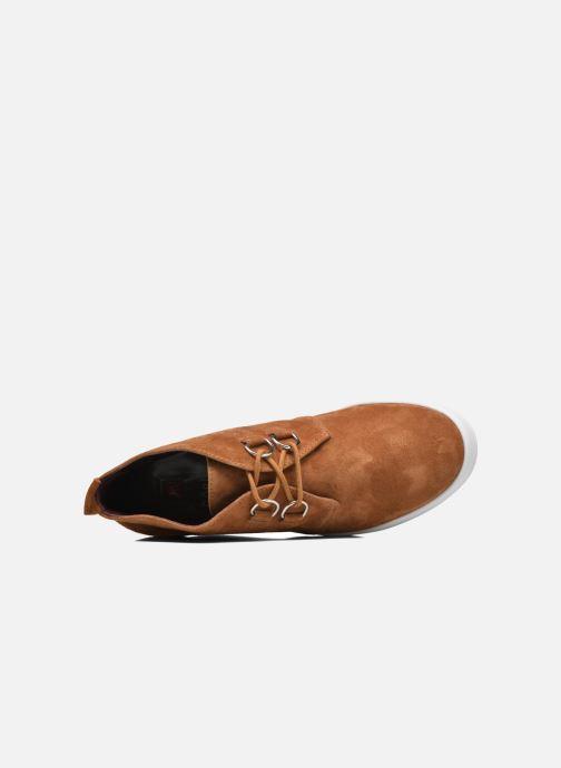 Zapatos con cordones HÖGL Christel Marrón vista lateral izquierda