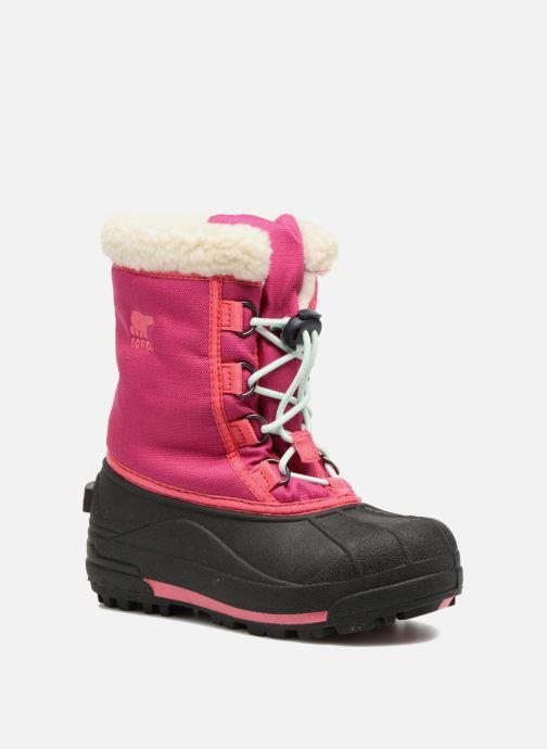 Støvler & gummistøvler Sorel Youth Cumberland Pink detaljeret billede af skoene