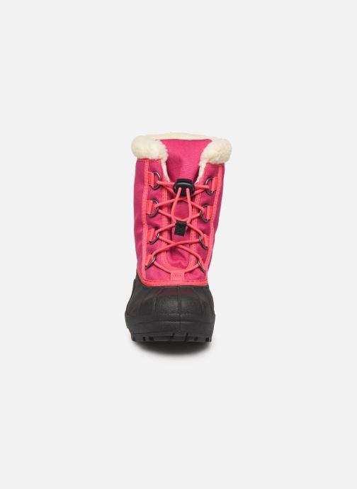 Stiefel Sorel Youth Cumberland rosa schuhe getragen