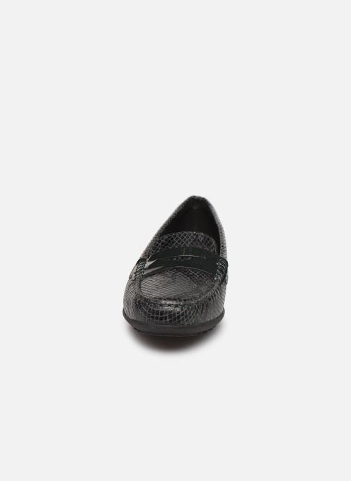 Mocassins Geox D ELIDIA A D642TA Vert vue portées chaussures