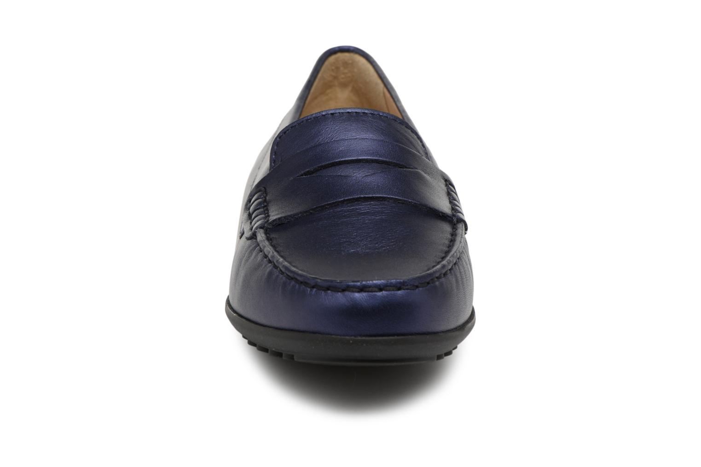Mocassins Geox D ELIDIA A D642TA Bleu vue portées chaussures