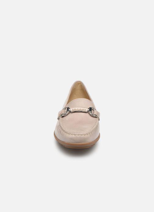 Mocassins Geox D ELIDIA B D642TB Gris vue portées chaussures