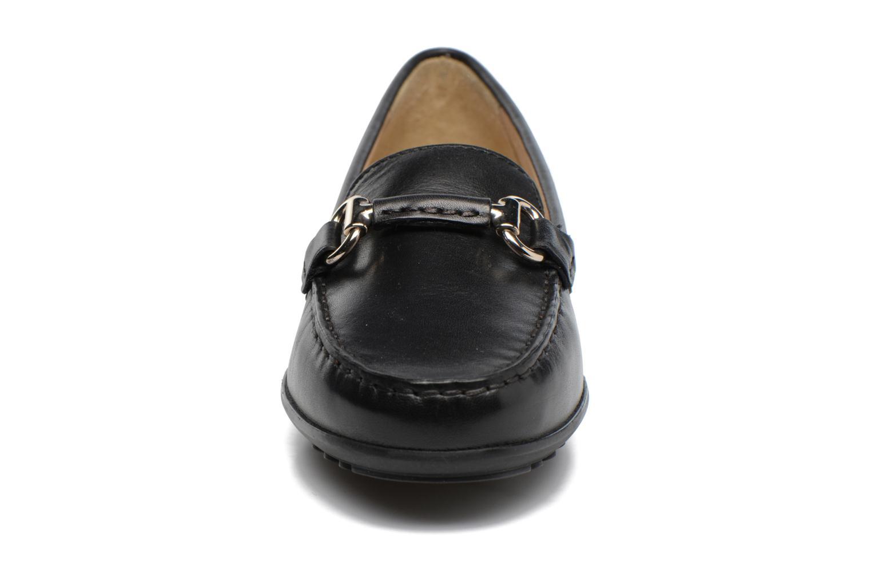 Mocassins Geox D ELIDIA B D642TB Noir vue portées chaussures