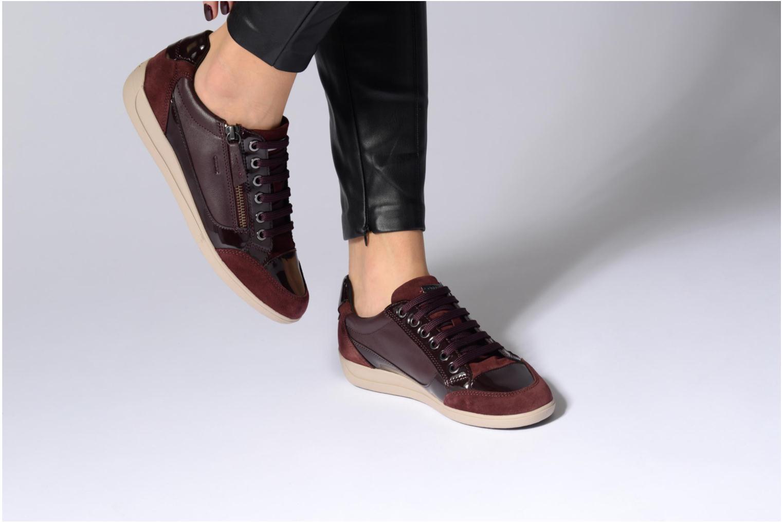 Sneakers Geox D MYRIA A D6468A Oro e bronzo immagine dal basso