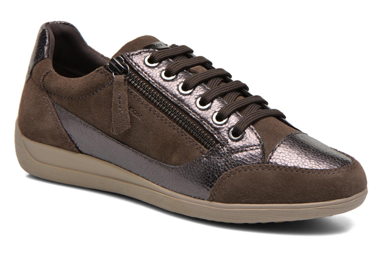 Sneakers Geox D MYRIA A D6468A Oro e bronzo vedi dettaglio/paio