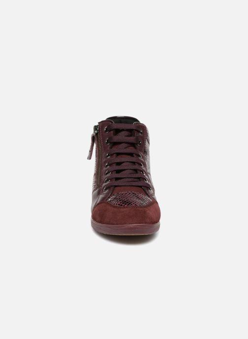 Baskets Geox D MYRIA C D6468C Bordeaux vue portées chaussures