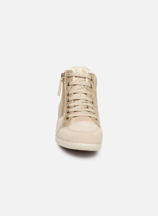 Baskets Geox D MYRIA C D6468C Or et bronze vue portées chaussures