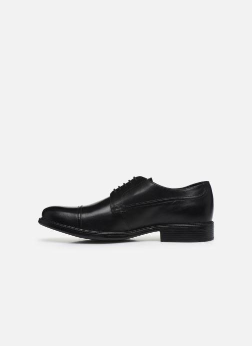 Zapatos con cordones Geox U CARNABY G U64W1G Negro vista de frente