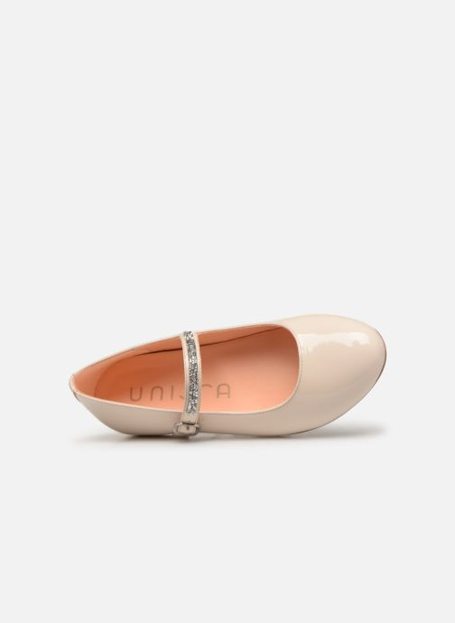 Ballet pumps Unisa Clervy Beige view from the left