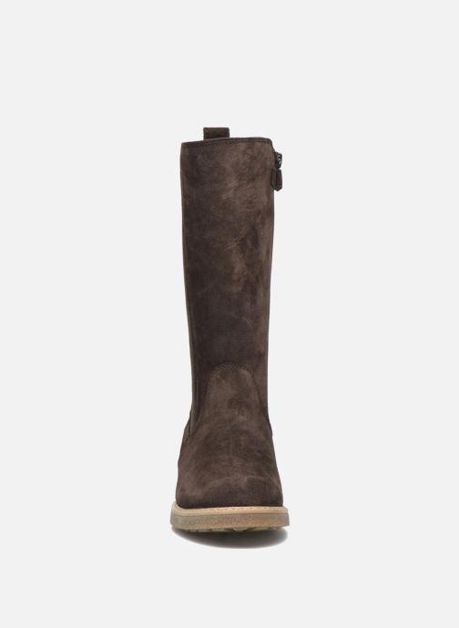 Bottes Unisa Nelly Marron vue portées chaussures