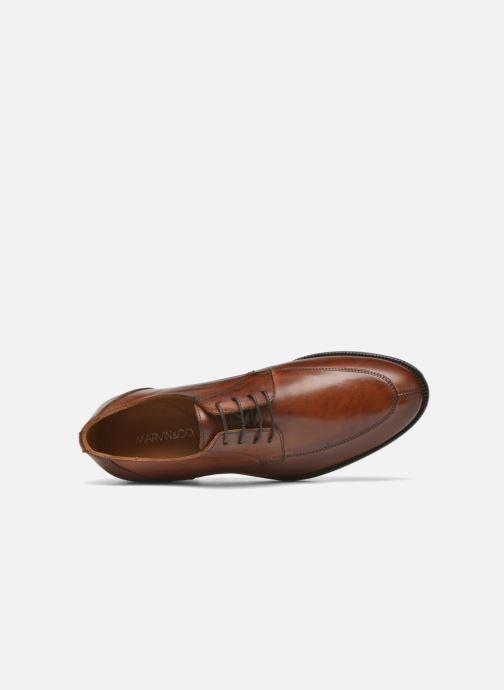 Chaussures à lacets Marvin&Co Newcastle Marron vue gauche