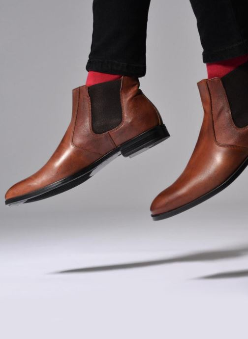Ankle boots Marvin&co Nuneaton Brown view from underneath / model view