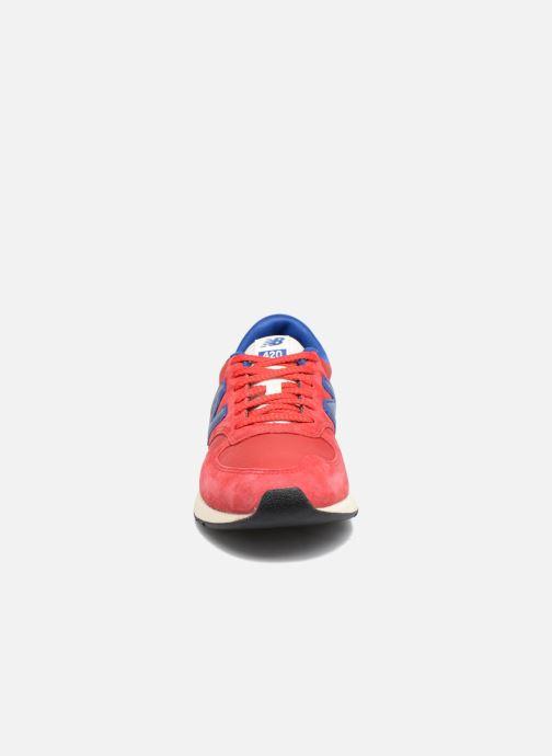 Sneaker New Balance MRL420 rot schuhe getragen