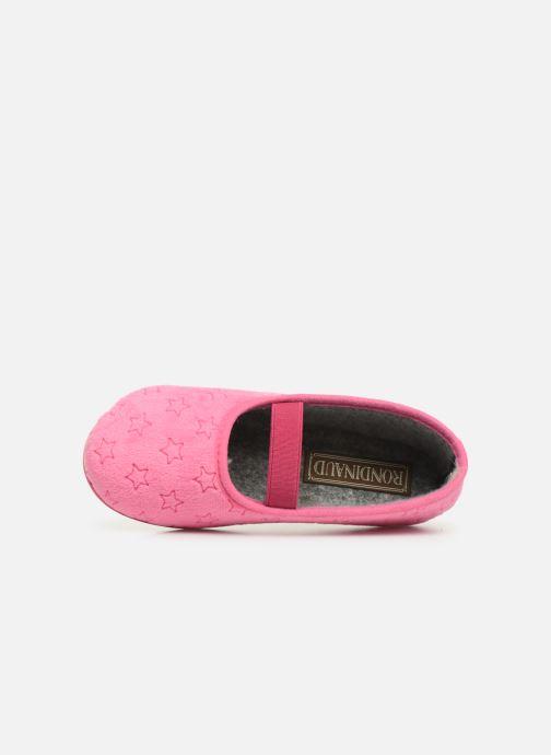 Pantoffels Rondinaud Banal Roze links