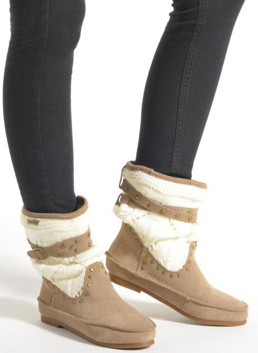 Bottines et boots Les Tropéziennes par M Belarbi Gelato Beige vue bas / vue portée sac
