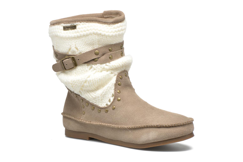 Bottines et boots Les Tropéziennes par M Belarbi Gelato Beige vue détail/paire