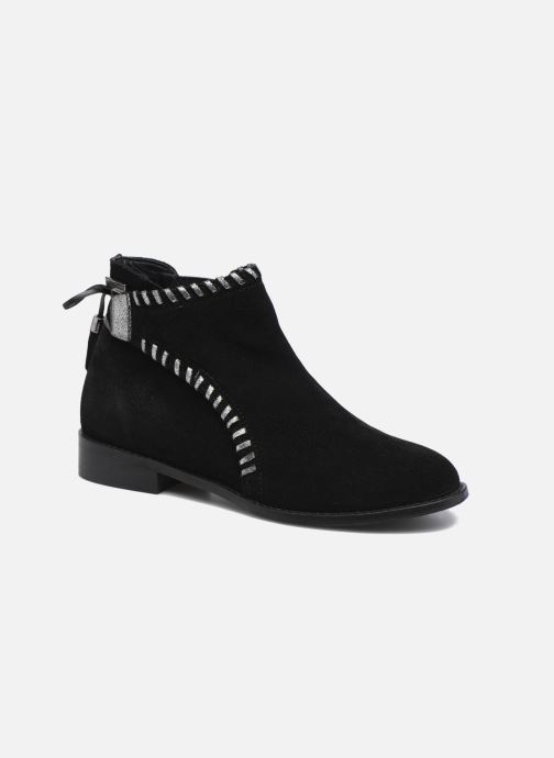 Bottines et boots Les Tropéziennes par M Belarbi Magnolia Noir vue détail/paire