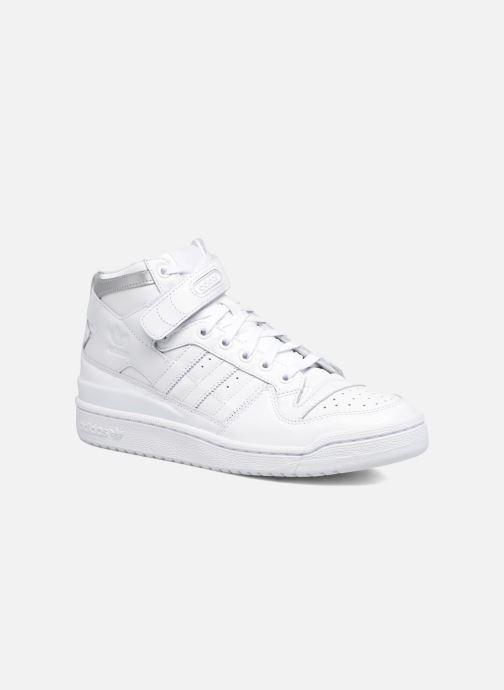 new style ef6a1 dbeb1 Baskets adidas originals Forum Mid Refined Blanc vue détail paire