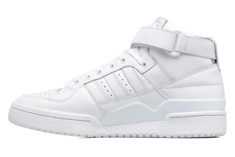 Sneakers Adidas Originals Forum Mid Refined Hvid se forfra