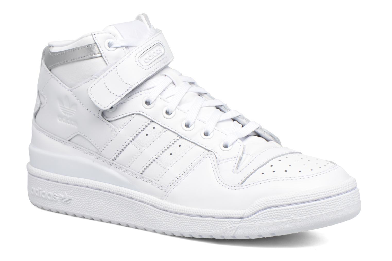 Sneakers Adidas Originals Forum Mid Refined Hvid detaljeret billede af skoene