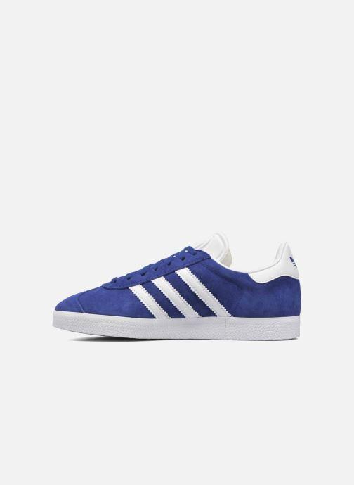 Baskets adidas originals Gazelle W Bleu vue face