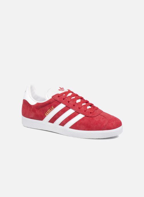 Baskets adidas originals Gazelle W Rouge vue détail/paire