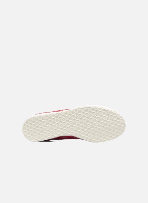 Baskets adidas originals Gazelle W Rouge vue haut