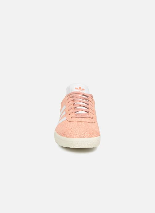adidas gazelle orange white portées