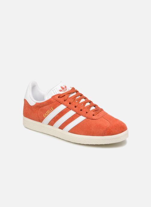 Baskets adidas originals Gazelle W Orange vue détail/paire