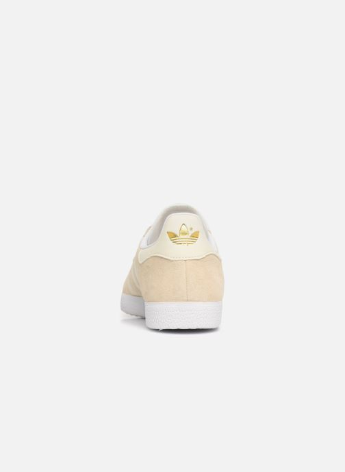 Baskets Adidas Originals Gazelle W Beige vue droite