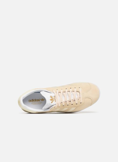 Baskets Adidas Originals Gazelle W Beige vue gauche