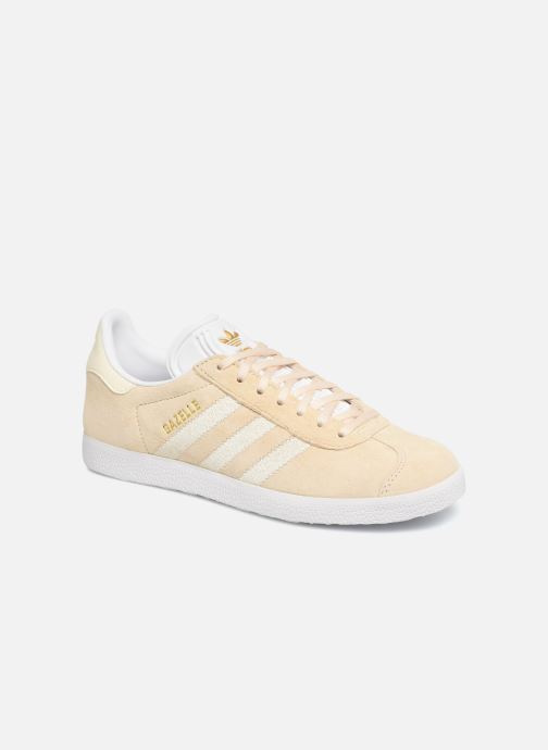 Baskets Adidas Originals Gazelle W Beige vue détail/paire