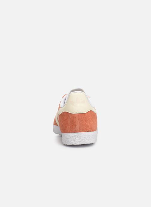 Baskets adidas originals Gazelle W Orange vue droite