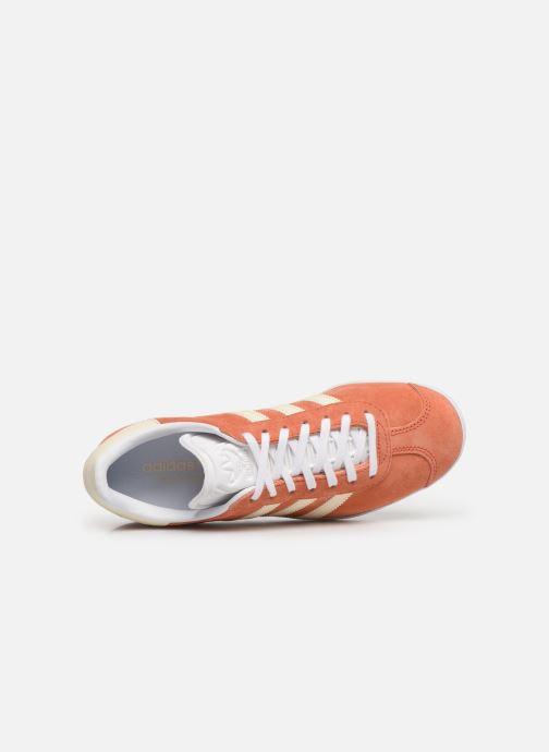 Deportivas adidas originals Gazelle W Naranja vista lateral izquierda