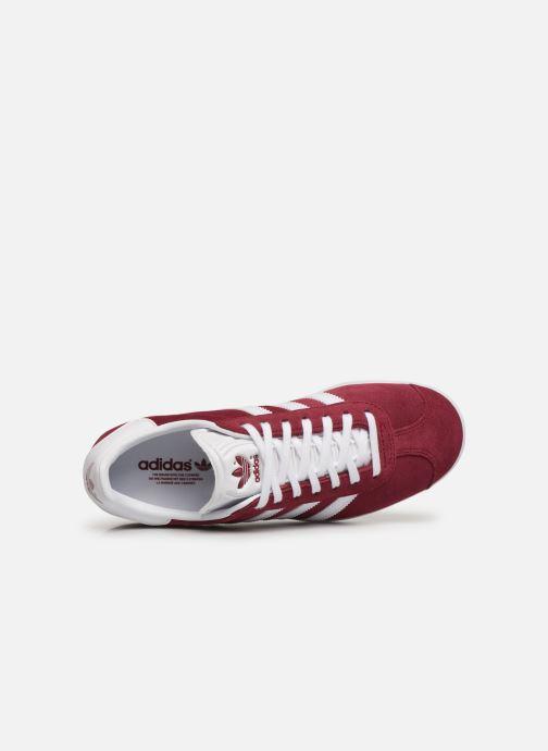 Baskets adidas originals Gazelle W Bordeaux vue gauche