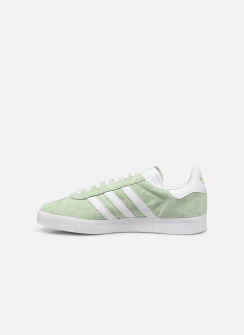Baskets adidas originals Gazelle W Vert vue face