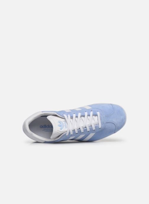 Deportivas adidas originals Gazelle W Azul vista lateral izquierda