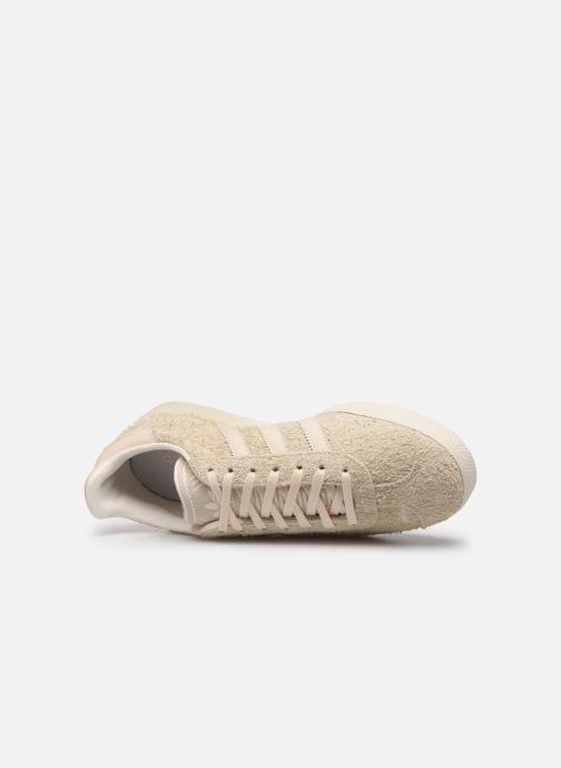 Sneaker adidas originals Gazelle W beige ansicht von links