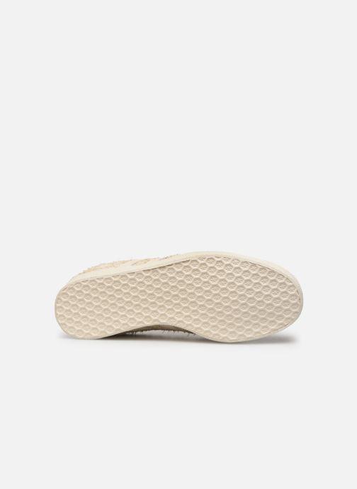 Baskets adidas originals Gazelle W Beige vue haut