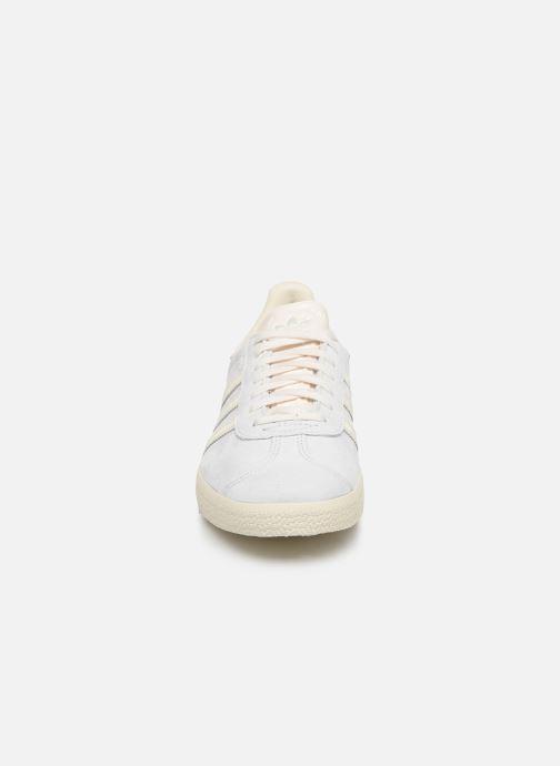 Sneaker adidas originals Gazelle W blau schuhe getragen